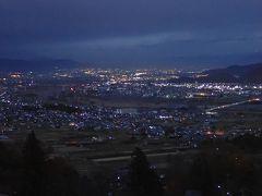 長野旅(3)日本三大車窓・姨捨駅の夕景から夜景