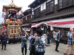 飛騨・富山・長野を周遊 (10-3) 越中八尾の曳山祭りと庄川温泉の鮎
