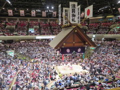 両国国技館で大相撲五月場所7日目の観戦と館内の施設散策をしました