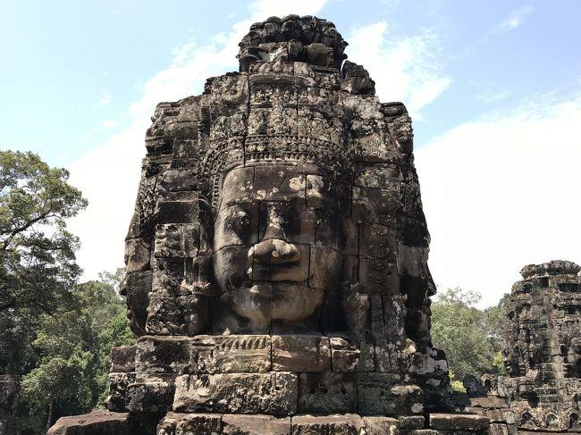 ずっと前から気になっていたアンコールワットとカンボジアの遺跡。<br />5月ならまだギリギリ観光シーズンだし、ちょうどマイルも溜まってきたので、ベトナム航空のビジネスで行ってきました。<br /><br />事前の予想に反して思いの他(←失礼)ベトナム航空のサービスが良く、<br />ある意味で期待を裏切られ良いた旅となりました。<br /><br />肝心の遺跡は残念ながら朝日が見えずリベンジを約束し、猛暑の中を歩き回り、帰国前とは別人のように日焼けして旅程を満喫。<br /><br />まだまだアジアは奥が深く、今後も継続して訪問してゆきます。<br /><br />5/20(日)  <br />VN301   NRT(09:30)-SGN(13:30)<br />VN813   SGN(16:20)-REP(17:30)<br /><br />ホテル:トラベラーホーム アンコール