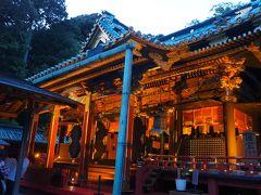 久能山東照宮 泰平の竹あかり 夜間開催 ライトアップとほんのりした灯りを楽しみに拝観して来ました(#^.^#)