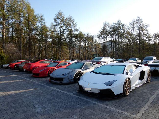 この日もいつも同様未明に目覚め、朝風呂を楽しんだ後は、日課の散歩に出かけます。<br /><br />この日はリバティウォークというカスタムカーのイベントがあるようで、駐車場には見たことがないようなスーパーカーがずらりと並んで圧巻です。<br />