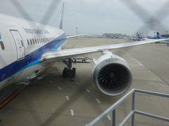 Boeing 787-8 に乗りました。早朝7:40発。成田行き。全日空 NH338便。です。