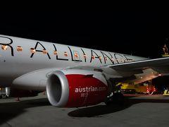ウィーンからインスブルックへ。オーストリア航空OS913便は,Embraer E195を使っていました。