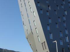インスブルックのお宿はオリンピック記念競技場のまん前。市街地には遠いが,バスが使えれば便利。