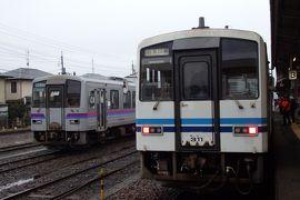 2018.01 廃線前に行く三江線駅巡り(14)川戸から三次へ。始発列車で三江線乗り通し。