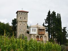 Tvrdoš修道院のワインセラーで試飲