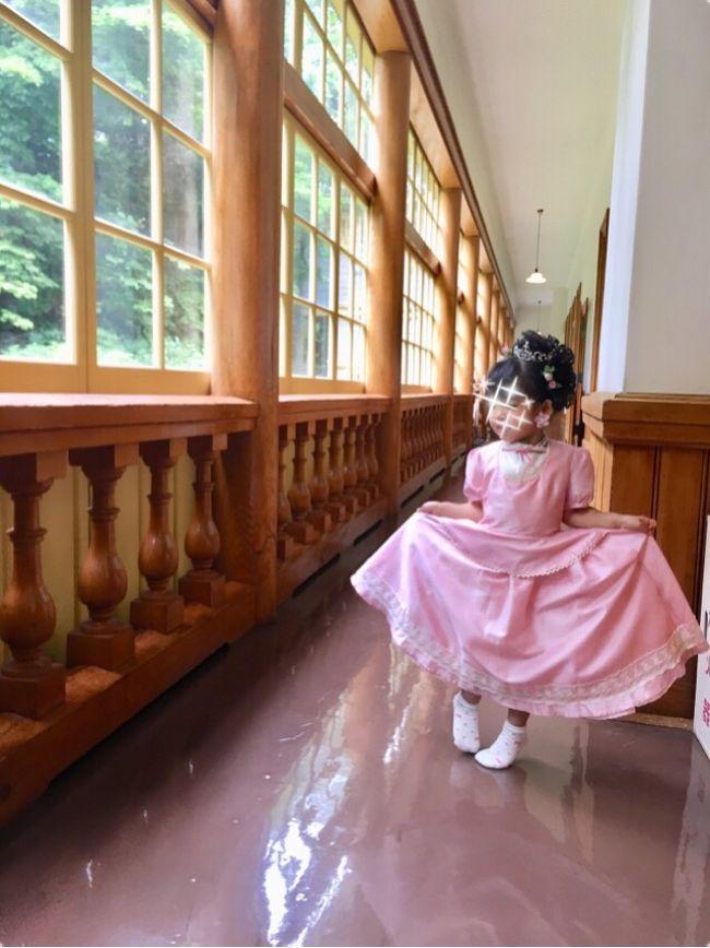 2014年、妊娠7か月のとき。<br />ハイカラ衣裳館(旧函館区公会堂)でドレス着せてもらいました。<br />(そのときの旅行記→https://4travel.jp/travelogue/10919392)<br />娘産んだら絶対に連れてこようと決めてたんです。<br /><br />2018年春、友達が函館に転勤になりました。<br />気づいたらバニラも飛んでるし、そろそろ行くかな~。<br /><br />調べたら、2018/6/16よりダイヤが変わるじゃありませんか。<br />(現行夕方便→朝便になる)<br />ってことで、我が家に有利な夕方ダイヤのうちに飛ばなくっちゃ!<br /><br />そして、ハイカラ衣装館(旧函館区公会堂)が耐震工事のため<br />2018年10月1日~2021年4月頃(予定)お休みに入るって?!<br />http://www.zaidan-hakodate.com/koukaido/index.html<br /><br />娘は最近プリキュアにハマったのでちょうどいいタイミング☆<br />4年ぶり(通算8回目くらい?)の函館へ!!<br /><br />函館市電(路面電車)ではPASMOも使えるようになっていて、<br />世の中どんどん便利になるなーと感じました。<br /><br /><br />【旅程】<br />①成田15:20発バニラ→函館16:55着<br /> 海の見えるおしゃれなレストランで友達と食事<br />②旧函館区公会堂でプリキュアに?!<br /> 函館公園、ラッキーピエロ、湯の川温泉、熱帯植物園<br /> 函館17:35バニラ→成田19:10着<br /><br />【費用】総合計約45,000円(大人1+3歳児1の合計)<br />●飛行機:29,460円(往復バニラ)<br />●宿:6,840円(スマイルホテル函館、Agodaより予約)<br />●現地交通費:1,480※市電200円均一料金の日<br />●食費:2,500円※お友達ご馳走様でした<br />●観光:5.300円<br /><br />&lt;&lt;&lt;その他の恋する北海道シリーズはこちら&gt;&gt;&gt;<br />●2013夏 女ひとり冒険の旅★稚内経由→高山植物まっ盛りの利尻富士<br />https://4travel.jp/travelogue/10795379<br />●新撰組の歴訪シリーズ★函館編<br />https://4travel.jp/travelogue/10919392<br />●2016冬 女ひとりで週末北海道★雪の美術館&美瑛の青い池ライトアップ<br />https://4travel.jp/travelogue/11198546<br />●3歳娘と週末北海道【1】100年の時を愉しむ余市編<br />https://4travel.jp/travelogue/11295314<br />●3歳娘と週末北海道【2】イルミネーションと白恋パーク★札幌編<br />https://4travel.jp/travelogue/11310765<br />●女ひとり1泊2日で知床★超弾丸の流氷リベンジ inウトロ<br />https://4travel.jp/travelogue/11336564<br />●復興支援で日帰り帯広★天然パッチワークの大地で12時間<br />https://4travel.jp/travelogue/11416527