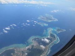 梅雨明け?の沖縄へ(2)青い海の上を飛んで真夏の那覇へ、ホテルで夕食、スーパーでローカルフードを楽しむ