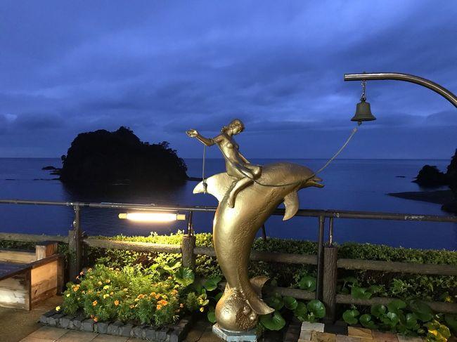 梅雨時で雨模様だけど、堂ヶ島温泉に&#9832;?来ました。<br />堂ヶ島はちょっと遠いけど、絶景のオーシャンビューが最高です。