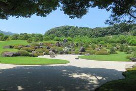 2018梅雨、山陰の名所巡り(2/15):6月24日(2):足立美術館(2):庭園と日本画、枯山水の庭園、亀鶴の滝
