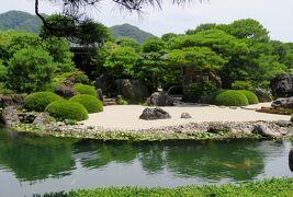 2018梅雨、山陰の名所巡り(3/15):6月24日(3):足立美術館(3):庭園と日本画、池庭、白砂青松庭、ナマコ壁、額縁の庭光景