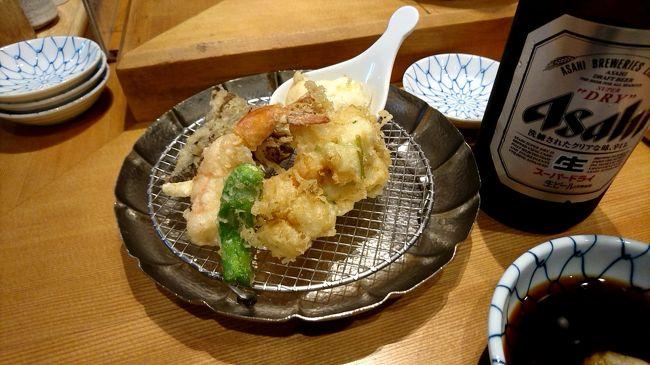 お昼、コレド室町の辺りを散策。11時半前ですが、昼食の為「金子半之助」へ天ぷらめしを食べに行きました。価格的にも非常にリーズナブルで、1000円前後で食事ができます。