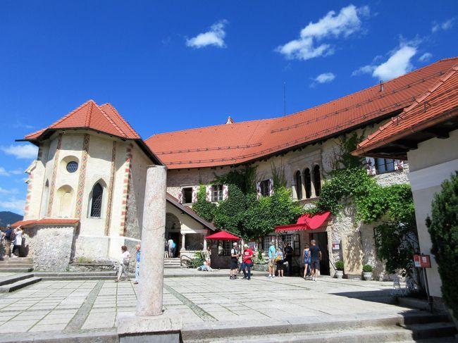 2018年6月 東欧2日目 その2 ブレッド湖のブレッド城の観光と、湖畔散策