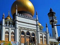Singapore-6 サルタンモスク アラブ街のシンボル ☆ラマダン期の昼間に訪ねて