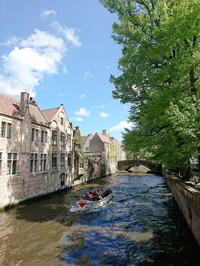 2018年4月27日~5月6日までのドイツ・ベルギー旅行です。<br />友人がドイツ在住・自身も海外在住ということもあり、完全個人手配旅行となりました。<br />列車や観光地のチケット等も自身でアレンジ・手配しましたので、他の方の参考になれば幸いです。<br /><br />5/2~5/4 ベルギー拠点<br />7日目 ブルージュ・ブリュッセル