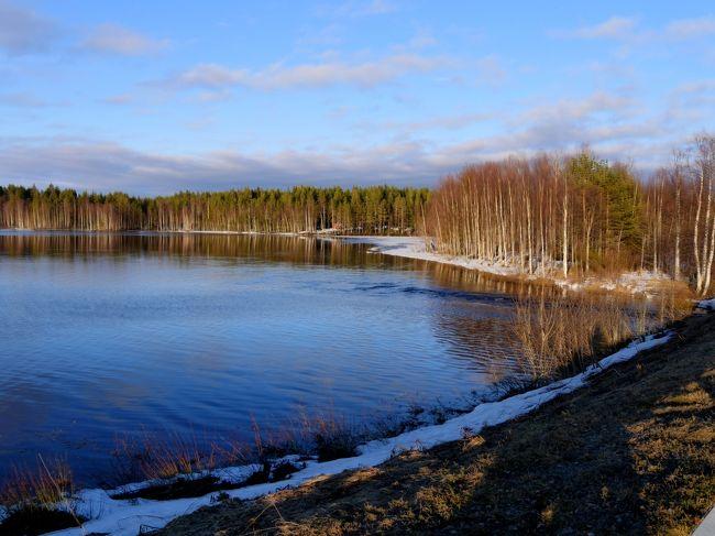 23回目のフィンランド旅行7-Risti池の景色,Simo湖の夕と朝,Juuren川,ケミ湖へ