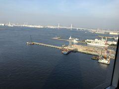 横浜ホテルステイ~ヨコハマグランドインターコンチネンタルホテル、海の見えるビアガーデン「はまビア」で夕食~
