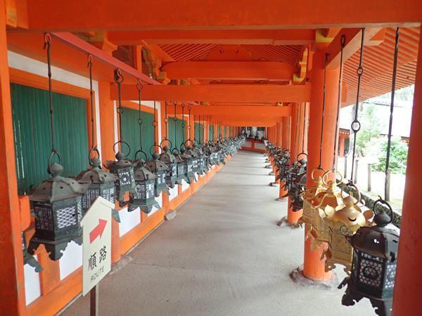 奈良交通定期観光バス「奈良公園3名所と春日奥山めぐり」の続きです。<br />東大寺の次は奈良公園内を移動して春日大社へやって来ました。二之鳥居をくぐって石燈籠の間の参道を上って行きます。社殿にたくさんある釣燈籠の中には直江兼続や徳川綱吉などの歴史上の人物の名前も見られました。