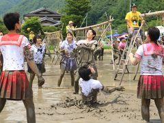 長野県辰野町の面白すぎるどろん田バレーボール大会♪&涼しさ呼ぶ横川渓谷♪