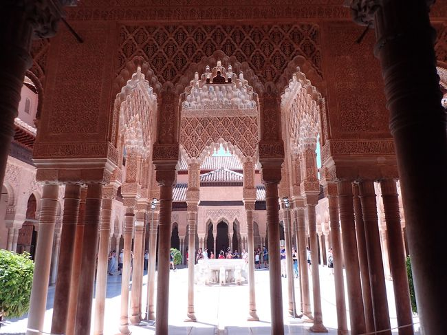 2018年夏旅は8年ぶりのスペイン!<br />バルセロナに行くことは決まっていましたが、どうしてもアルハンブラ宮殿が見たいという我儘で、グラナダに2泊+バルセロナ3泊。アンダルシアの風を感じながら、宮殿をゆっくり見学できました。バルセロナはガウディ建築巡りがとてもよかった!(別記事で書きます)<br /><br /><br />7/21 KLM航空で成田→アムステルダム、アムステルダム→マラガ、マラガから送迎車で1時間半でグラナダ着。<br />7/22 グラナダ観光<br />7/23 ブエリング航空でグラナダ→バルセロナ<br />7/23-25 市内観光<br />7/26-27 KLM航空でバルセロナ→アムステルダム、アムステルダム→成田<br />合計で旅費・ホテル込みで25万円ほど、プラス食費・観光費用<br /><br />こちらの記事は成田出発-グラナダまで。<br />また、私は実は妊娠中(しかもまぁまぁ初期)の旅行でした。ガンガン歩いて動き回ったけど、特に体調に異変もなく無事に帰ってこれました。行くかどうかギリギリまで悩んだけど行って良かった!