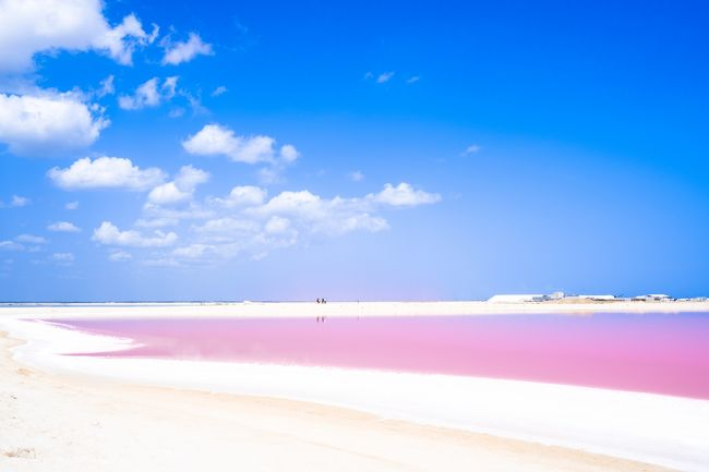 ピンクラグーンを見たくてメキシコに行って来ました。<br /><br />ピンクラグーンのピンク、建物のパステルカラー、メキシコ湾のエメラルドグリーンにカリブ海のターコイズブルー。<br /><br />夏の青い空も手伝って、メキシコはとってもカラフルな国、という印象でした。<br /><br />そんな写真を中心に綴るメキシコの旅行記。
