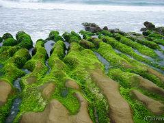 緑のベルベット絨毯が広がるビーチ「老梅石槽」