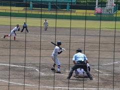 島田球場で高校野球を見て来ました 2018.07.15 =2.島田球場で高校野球観戦=