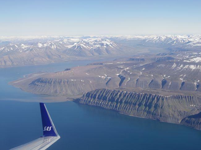 毎年夏とクリスマスはノルウェーに里帰り。ノルウェーのベストシーズンは7月前半かなと思うけど、ノルウェーの従妹たちがその頃は別荘に行っていていないので、7月終わりから8月にかけて行くことに。全く祝日がないので、11日間といつもよりは短めの滞在でした。そして今回は4トラ的に国カウントなスヴァールバルに足を延ばすことに。何にもなくて白熊に襲われる、とノルウェー人の旦那にディスられた為、家族は実家において、弾丸一人旅。<br /><br /><br />航空券は夏なのでさすがにちょっと高め。東京―オスロ往復は大人が14万円位。オスロースヴァールバル往復は約3万6千円でした。<br /><br />7/28 SK 0984 11:10 NRT - 15:30 CPH, SK 1470 19:05 CPH - 20:15 OSL<br />7/29 SK 4496 21:45 OSL - 00:40(+1) LYR<br />7/30 SK 4425 14:45 LYR -  18:55 OSL<br />8/6 SK 1469 13:30 OSL - 14:40 CPH, SK 0983 15:45 CPH - 09:35(+1) NRT