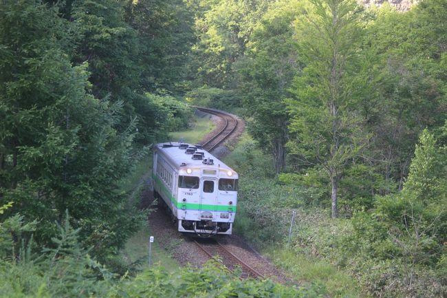 来年の3月に廃止が決まった石勝線夕張支線。<br />かつては石炭を満載した長大編成の貨物列車が行きかったこの路線も今では単行デイーゼルカーが行きかうだけのローカル線になっています。<br />18きっぷで夏の夕張に行ってみました。