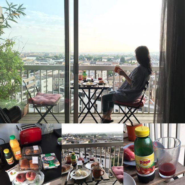 フランスでドライブ旅行2018 ①ボルドー到着と朝ご飯
