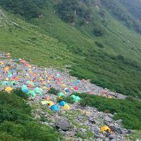 18年夏のテント泊は、蝶ヶ岳を登る