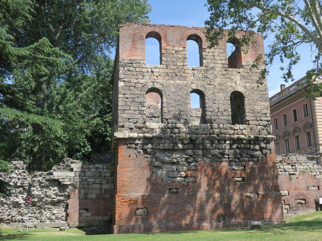 クールマイユールからコーニュへの移動日です。<br /><br />途中、ヴァッレ・ダオスタ州の州都アオスタで古代ローマ時代の遺跡巡りをしてからコーニュのホテルにチェックインしました。<br /><br />表紙は1世紀の遺跡、パイルロンの塔(Torre Pailleron)<br /><br /> ー◇ーーー◇ーーー◇ーーー◇ーーー◇ーーー◇ーーー◇ーーー◇ー<br /><br /><旅程><br />7/06   成田 12:35 ー パリCDG 17:10 (AF275)<br />7/06   パリ 21:20 ー トリノ  22:55 (AF1502)<br />7/07   午前 トリノ街歩き<br />7/07   午後 レンタカーでクールマイユールへ(5泊)<br />7/08   クールマイユール→ベルトーネ小屋→フェレ谷をハイキング<br />7/09   エルブロンネ展望台<br />7/10  ドロンネからヴェニ谷TMBコースのハイキング<br />7/11   チェルビニア<br />7/12   アオスタ経由でコーニュへ(3泊)<br />7/13   グランパラディーゾ国立公園ハイキング<br />7/14   グランパラディーゾ国立公園ハイキング<br />7/15   コーニュのホテルを出発してトリノカゼッレ空港でレンタカー返却<br />     TRN 15:10-CDG 16:45 (AF1703) パリ市内泊<br />7/16   CDG17:20- 羽田 16:20(17日) (AF272)