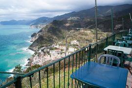 チンクエテッレとアオスタ~北イタリアの海と山の絶景巡り 【5】リオマッジョーレ最後の散歩と絶景カフェ(2018/3/7)