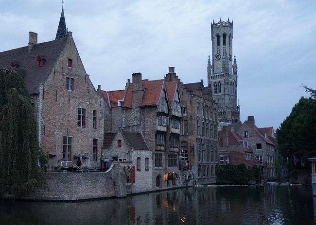 オランダ・ベルギー・ルクセンブルグの旅4日目、オランダからベルギーに移動、今晩からブルージュに2泊となります。ブルージュに到着後、20:00からディナー。その後中世の街並みが残る世界遺産の街を少し散策しました。