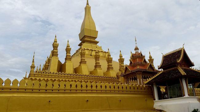 「タイ周辺国へのグローバル戦略の旅」パート4です。 <br />今回は初めてのラオス(ビエンチャン)への訪問です。。。パチパチ!<br /><br />ちなみにパート1はカンボジア(シェムリアップ)、パート2は台湾(台北)、パート3はベトナム(ホーチミン)でした。 <br /><br />ラオスは、タイ側から舟で2回ほど上陸したことありますが、正式ルートで入国するのは今回初めて。<br />なお、ラオスへの直行便がないので、タイ経由になりますので、バンコク・パタヤにも訪問しますので、2018年 4回目のタイ旅行となります。<br /><br />ビエンチャンでは、レンタルバイクを借りて市内+郊外をウロウロします。<br /><br />今回の旅程は以下のとおり。LCCのお陰で安く旅ができます。<br /><br />【今回の旅程】 <br />■2018年8月10日(金)  <br /> 関空⇒バンコク・ドンムアン    by エアアジア<br />  ※往復:25,610円也<br />□チェックインプロンポン@バンコク:1泊<br />  ※1泊朝食無し:3,263円也<br /><br />■2018年8月11日(土)  <br /> バンコク⇒パタヤ         by ベルトラベルバス<br />  ※370B也<br />□ベイブリーズホテルパタヤ@パタヤ:1泊<br />  ※1泊朝食無し:806B也<br /><br />■2018年8月12日(日)  <br /> パタヤ⇒バンコク         by ベルトラベルバス<br />  ※370B也<br />□ナントラスクンビット39@バンコク:1泊<br />  ※1泊朝食付き:720B也<br /><br />■2018年8月13日(月)<br /> バンコク・ドンムアン⇒ビエンチャンby エアアジア<br />  ※往復:16,182円也<br />□メコンホテル@ビエンチャン:4泊<br />  ※1泊朝食付き:37,34$也<br /><br />■2018年8月17日(金)<br /> ビエンチャン⇒バンコク・ドンムアンby エアアジア<br />□マキシムズイン@バンコク:1泊<br />  ※1泊朝食無し:1,182B也<br /><br />■2018年8月18日(土)  <br /> バンコク・ドンムアン⇒関空    by エアアジア