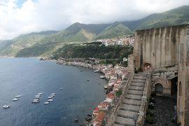 美しき南イタリア旅行♪ Vol.102(第4日)☆Scilla:美しき古城「シッラ城」(ルッフォ城)イタリア海軍の灯台♪