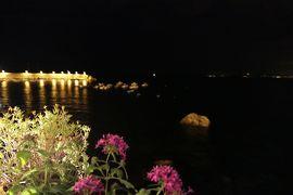 美しき南イタリア旅行♪ Vol.111(第4日)☆Scilla:シッラの高級ホテル「Il Principe di Scilla」スイートルームからの夜景♪