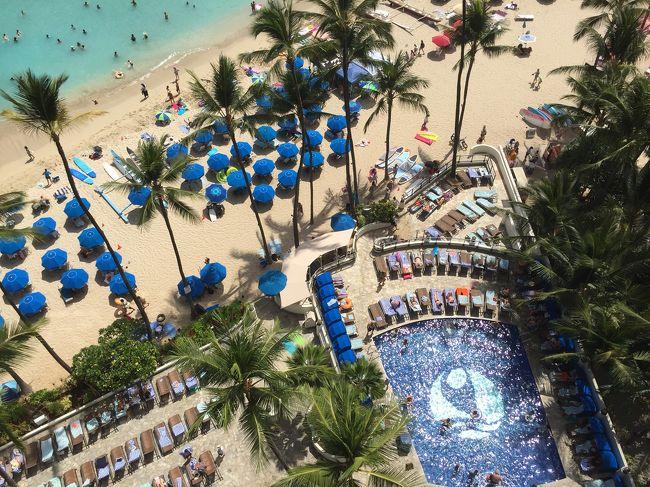 今年の夏休みは、昨年に続き、ハワイ オアフ島です。<br /><br />ワイキキ滞在で4泊6日のショートバケーション。<br /><br />expediaで航空券とホテルを予約。<br />エアアジアxとアウトリガーワイキキビーチリゾートの組み合わせです。<br /><br />今回のメインテーマは、<br />「ワイキキビーチをオーシャンフロントの部屋でゆっくりと滞在する」。<br /><br />ハリケーンの影響で4泊7日になりましたが、最終日以外は、素晴らしい天気でオアフ島での滞在を楽しめました。<br /><br />