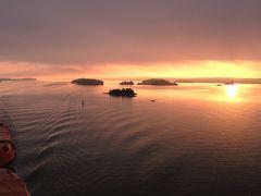 ヘルシンキからフェリーでストックホルムへ、バルト海クルーズ、夕日【リトアニア】【スウェーデン】