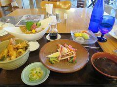 久米島と沖縄本島(10)久米島3日目のディナーは車海老御膳。マグロ。もずく餃子。島のおいしいものたちです。