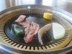 久米島と沖縄本島(12)久米島イーフビーチホテル最終日のディナーは車海老のBBQ