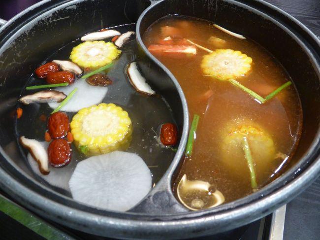 4歳娘を連れて念願の敦煌+北京6日間の旅1-乗継北京で火鍋を食べる