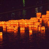 青春18きっぷの旅 2018年夏 京都旅行[1]  五山送り火・嵐山灯籠流しを見ました
