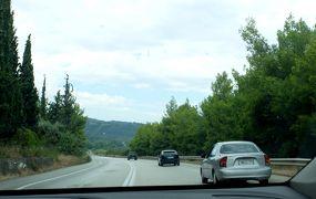 2018.8ギリシアザキントス島,ペロポネソス半島ドライブ旅行6‐DiakoptoからE65,E55でKilliniへ