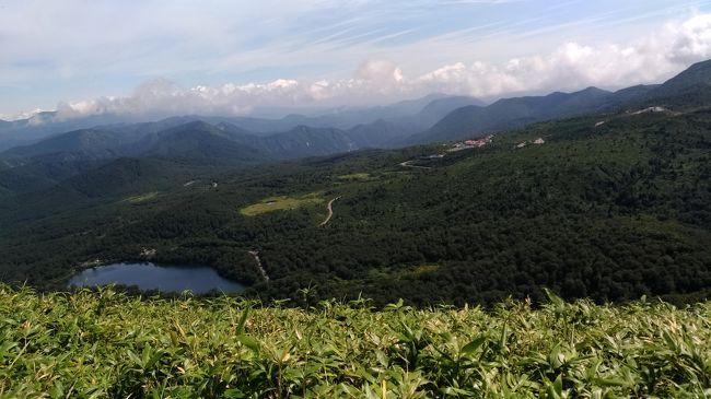 2018年の夏休みはお盆の5日間(だけ・・・しかも直前決定)<br />須川湖キャンプ場でキャンプし、栗駒山をハイキングしました。<br />不毛な夏の自分用メモです(^^;<br /><br />日程<br />8月11日(土):自宅ー東北道ー二本松IC-岳温泉(夕食)-奥岳登山口(車中泊)<br />8月12日(日):-国見IC-東北道ー古川IC-買い出しー須川湖キャンプ場(泊)<br />8月13日(月):秣岳~栗駒山ハイキング<br />8月14日(火):-花山温泉温湯山荘(入浴)-道の駅はなやま(昼食)-築館IC<br />       -東北道ー仙台北部道路ー仙台東部道路ー常磐道ー自宅<br /><br />渋滞覚悟で初日は車中泊予定です。<br />猛暑の関東を北上し、あだたらイルミネーションを楽しんだ後<br />涼しい快適な一夜を過ごしました。<br />キャンプ場も快適な気候だったので束の間の避暑を楽しんだ3日間でした。<br />