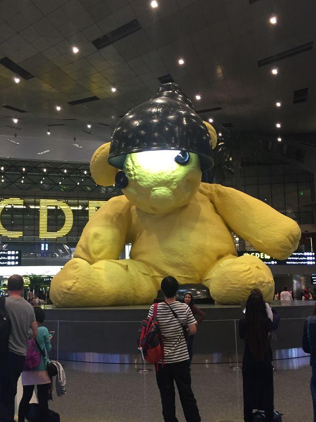 シドニーからロンドンの移動は、カタール航空を利用。ドーハで乗り換え。