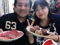 2018年「2人合わせて128歳 結婚36周年記念 第2弾 6年ぶり 13回目の韓国・釜山へ」ケロリンさんと2日目夜から・・3日目 今夜はディープな焼き肉屋さんとまさかの空港にて 後ろにいたケロリンさん