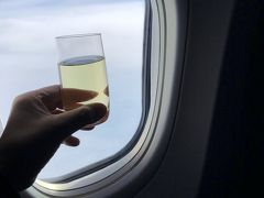 2018年 6月 夫婦で初パリ旅行記 最終章 アラスカ航空 ファーストクラス搭乗記