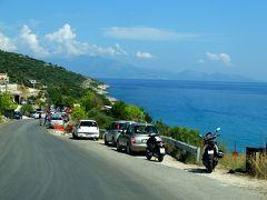 2018.8ギリシアザキントス島,ペロポネソス半島ドライブ旅行9‐Ano VasilikosからSkinari岬へのドライブ